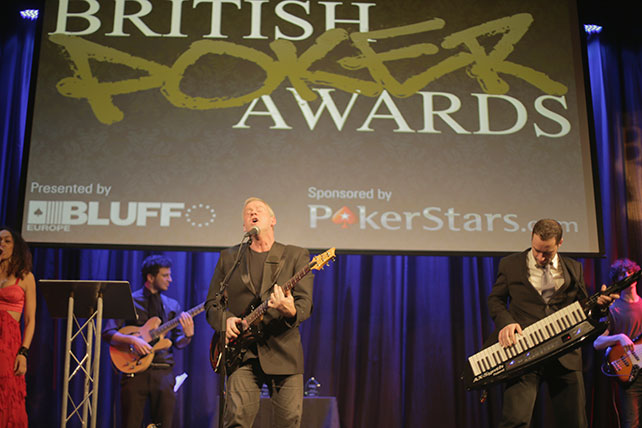 British Poker Awards ceremony